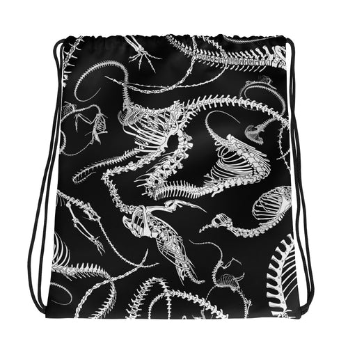 Skeletal Plexus Drawstring Bag