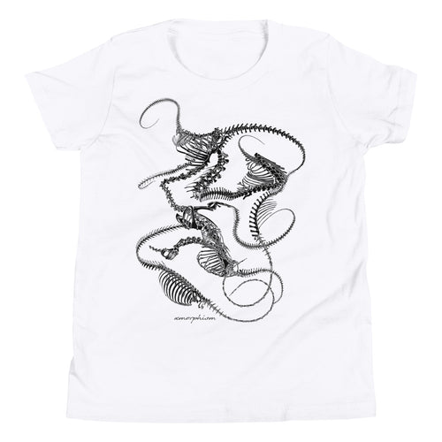 (White) Kids' Skeletal Plexoid Tee