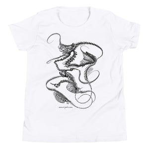 (White) Youth Skeletal Plexoid Tee
