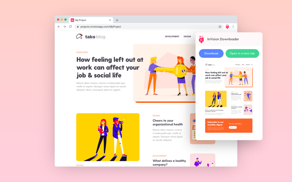 tako agency chrome invision extension
