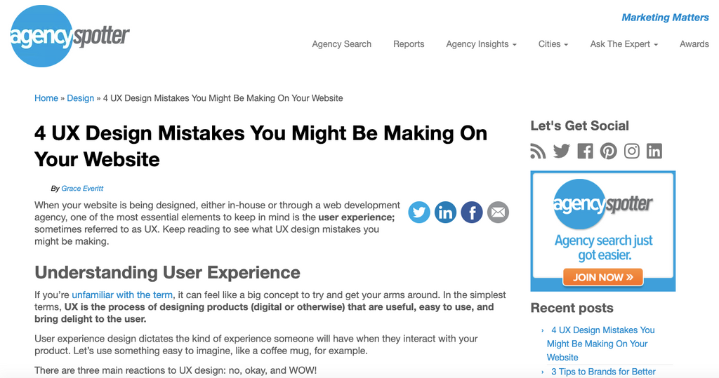 4 UX Design Mistakes You Might Be Making On Your Website Grace Everitt Tako Agency