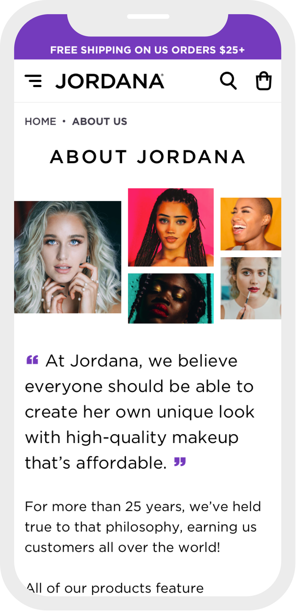 jordana cosmetics case study mobile