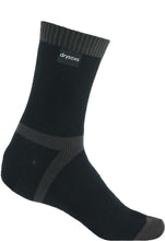 Double Cotton Socks Mid Length - Black-Grey Stripe