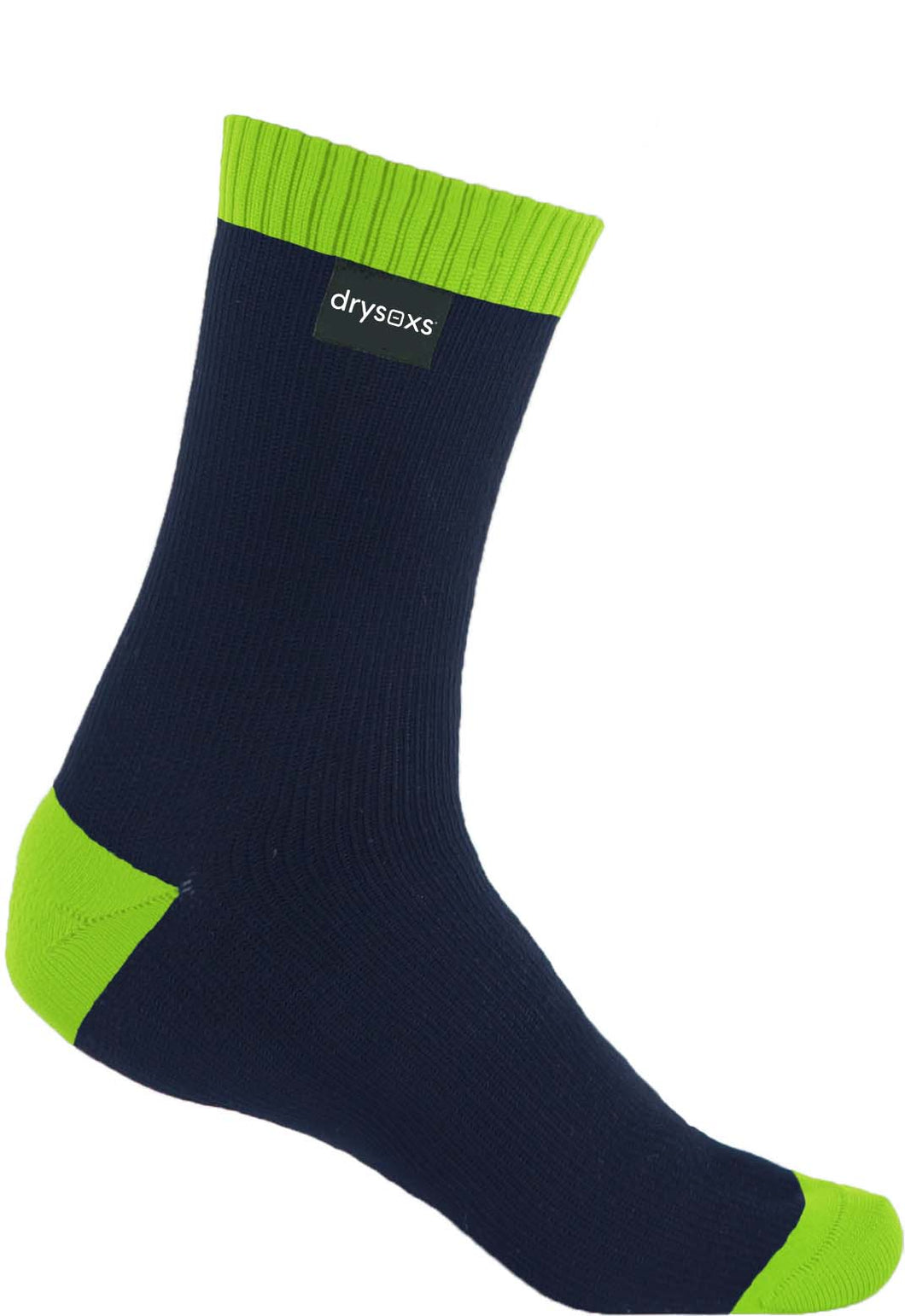 Double Cotton Socks Mid Length - Navy-Green