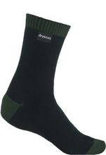 Double Cotton Socks Mid Length - Black-Deep Green