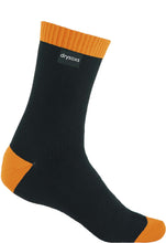 Double Cotton Socks Mid Length - Black-Orange