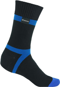 Waterproof Socks - Black-Blue Stripe