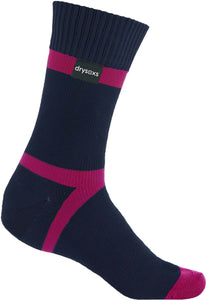 Waterproof Socks - Navy-Pink Stripe