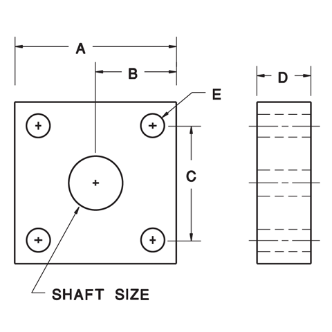 4-Bolt Flange Blocks