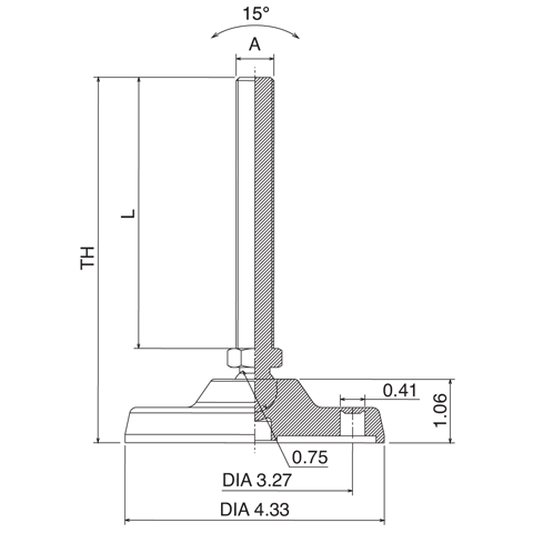 "4.84"" Fixed Leveler - Basic"