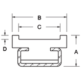 Flat Belt Guide Insert For Timing Belts - Mounted
