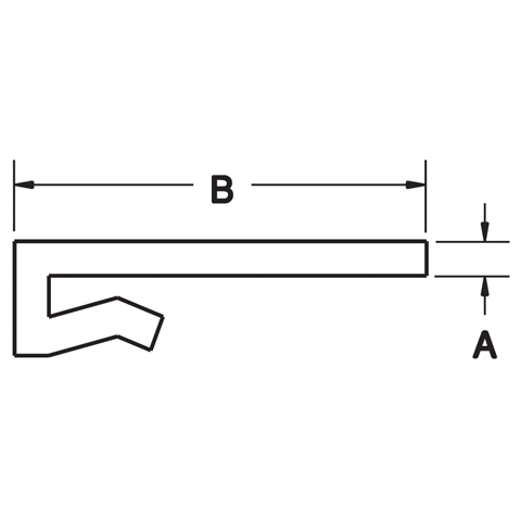 "J-Leg for 1/8"",3/16"" and 1/4"" Bar"