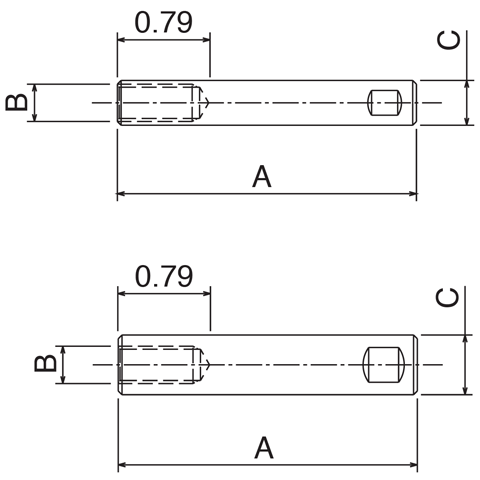 "Adjusting Rods - 1/2"" Diameter"