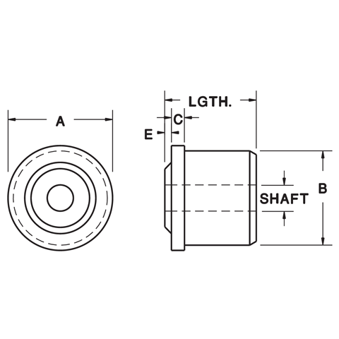 "1-5/8"" Diameter Roll-End Bearing"