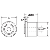 "1-1/2"" Diameter Roll-End Bearing"