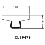 "1.69"" T-Top Rail - .81"" High"
