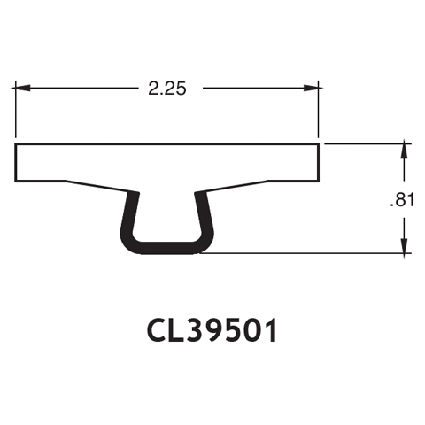 "2.25"" T-Top Rail - .81"" High"