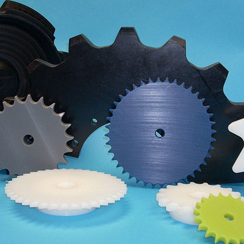 "Plastic Roller Chain Sprockets - No. 60, 3/4"" Pitch"