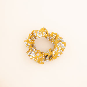 Adult Scrunchie in Mustard Floral
