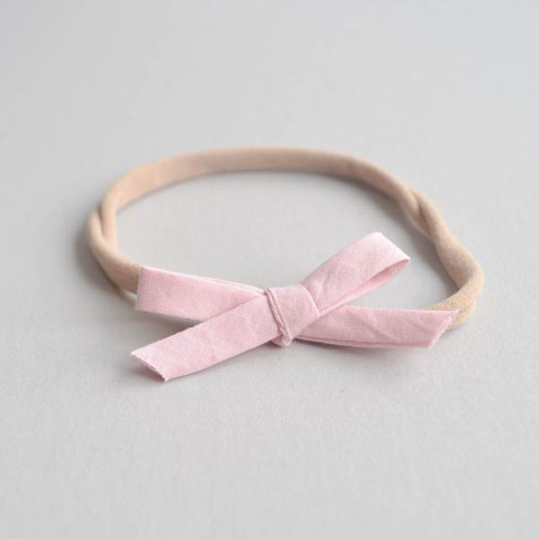 solid pink dainty bow