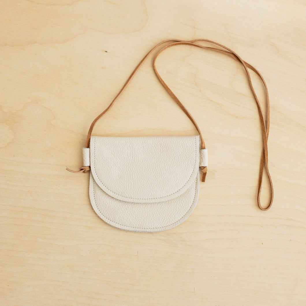 toddler cream leather purse