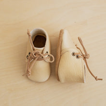 cream learher baby boots