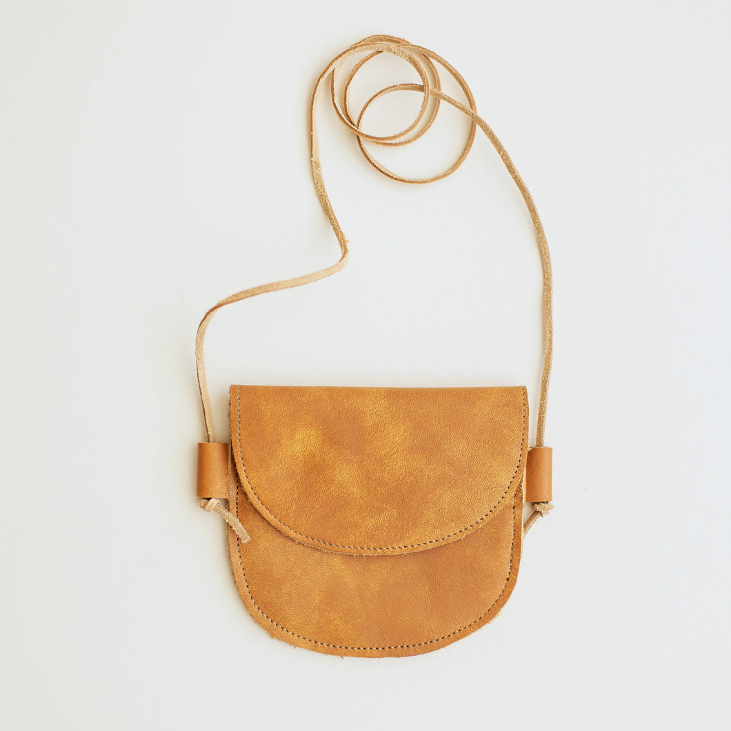 Leather Bag in Apricot