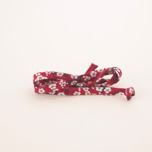 Red Floral Shoe Laces