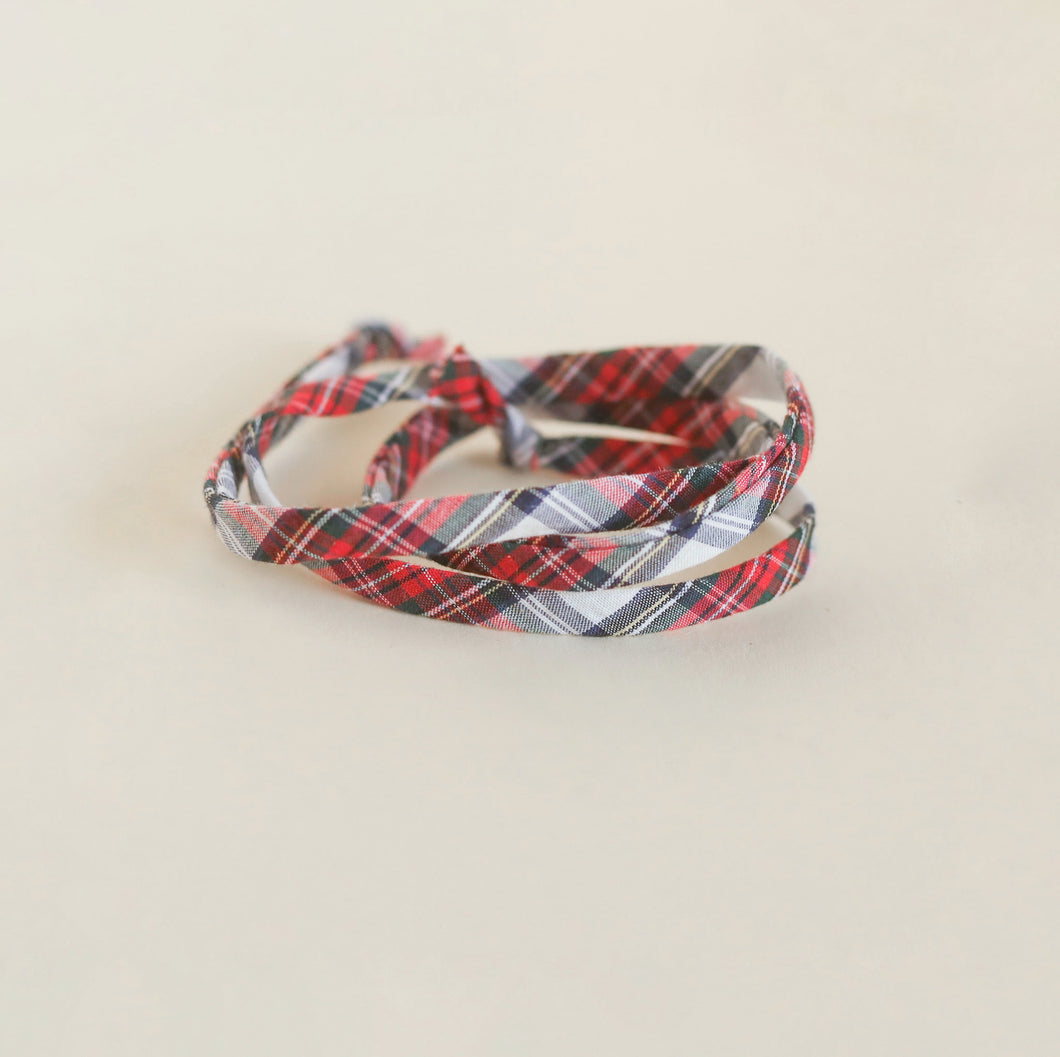 White Plaid Laces