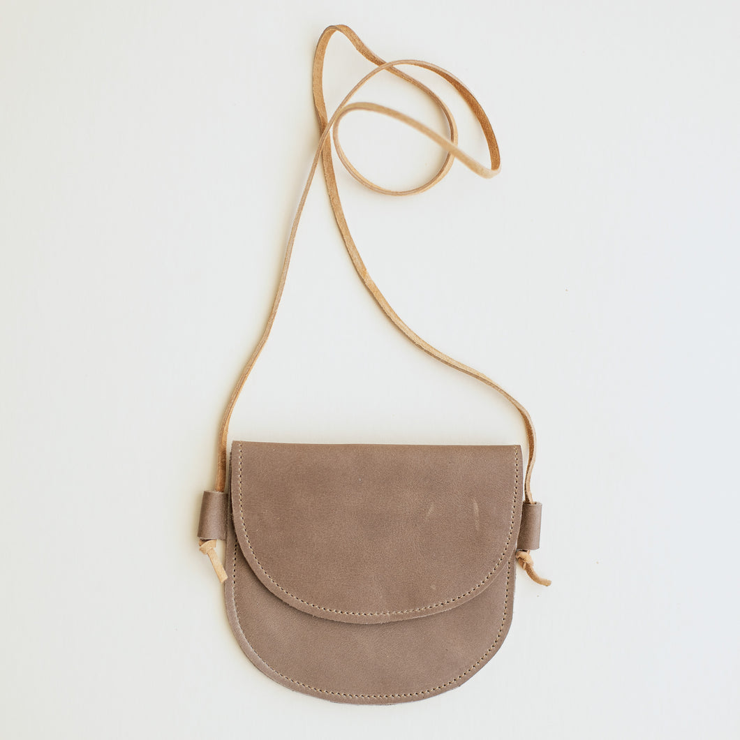 Leather Bag in Taupe
