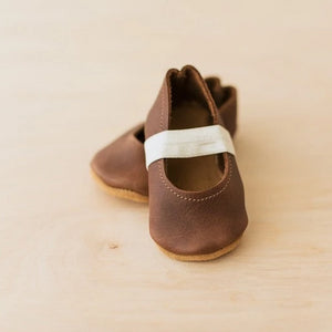 dark brown leather baby mary janes