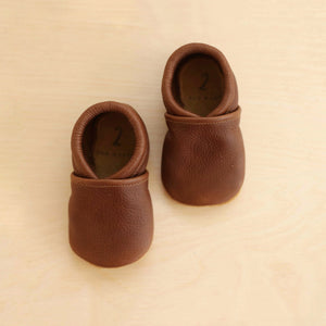 browb baby moccs, leather baby shoes easy to put on
