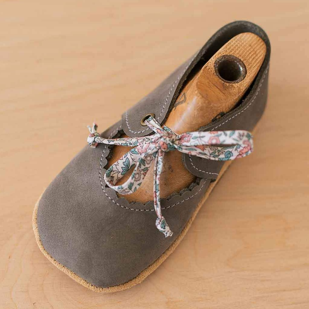 Gray soft sole baby girl shoes