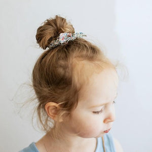 Toddler Scrunchie in Mocha Linen