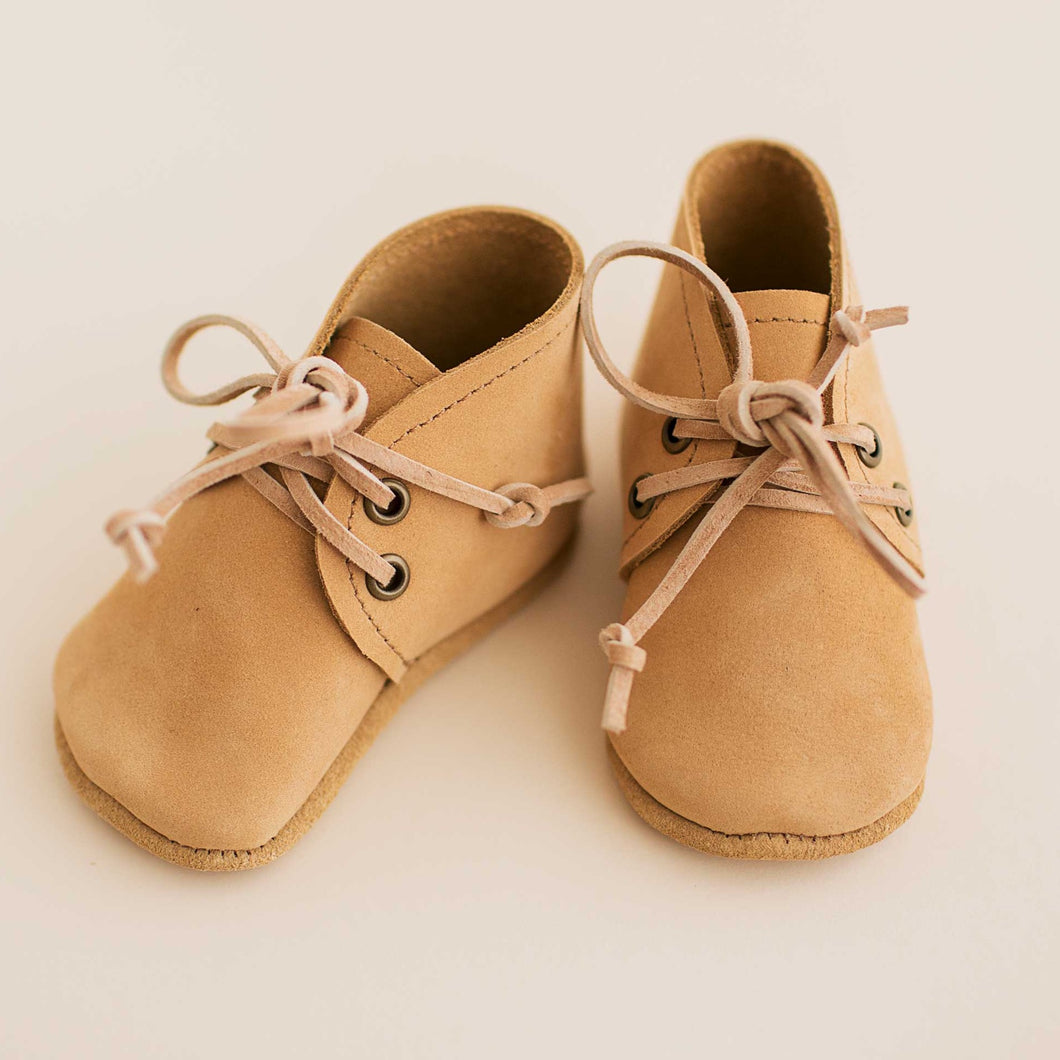 light brown baby boots