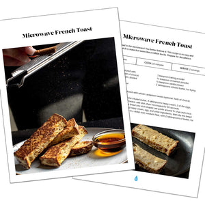 Keto cookbook pages: Microwave French Toast