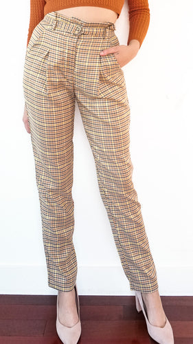 Pantalon à carreaux jaunes, 24 Colours