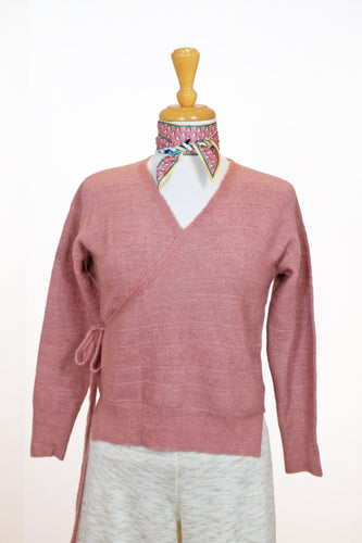 Pull Cache-coeur rose antique - Heartloom