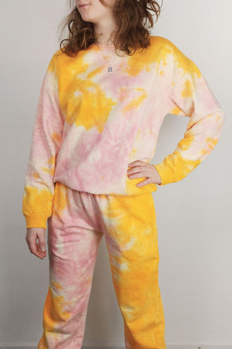Chandail Tie-Dye Orange et Rose - 24 Colours