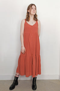 Robe longue fluide corail - 24 Colours