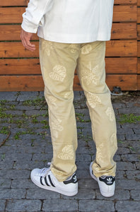 Pantalon beige motif floral Scotch & Soda