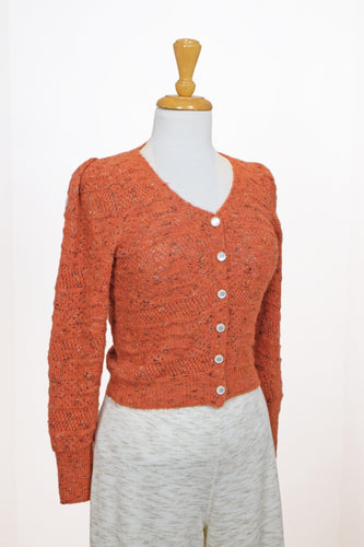 Cardigan orange style vintage - Heartloom