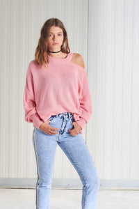 Pull rose manches longues 24colours
