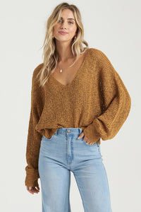 Pull en crochet ocre Billabong
