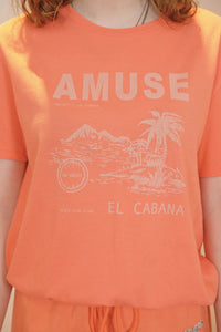 T-shirt orange corail - Amuse