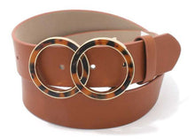 Double Circle PU Leather Belt