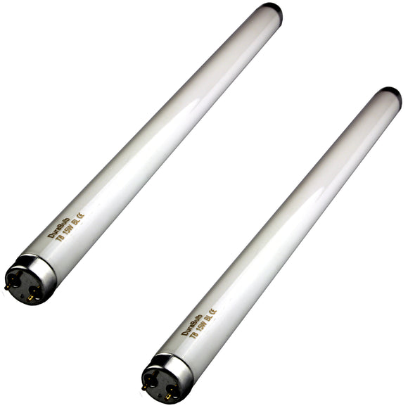 2 x 15W DuraBulb Fly Killer Bulbs - T8 15 Watt UV Tubes for 30W Fly Killers/Insect Zappers