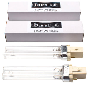 DuraBulb Twin Pack Replacement 7W UV (Ultra Violet) Bulb Lamp for Pond UVC Filters & Clarifiers