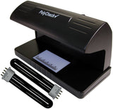 PolyCheck 2-in-1 UV Counterfeit Money Detector with 2 Spare DuraBulb Bulbs