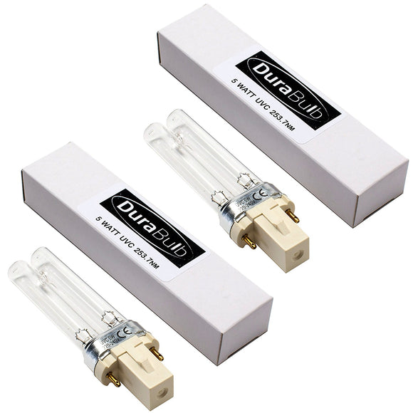 DuraBulb Twin Pack Replacement 5W UV (Ultra Violet) Bulb Lamp for Pond UVC Filters & Clarifiers